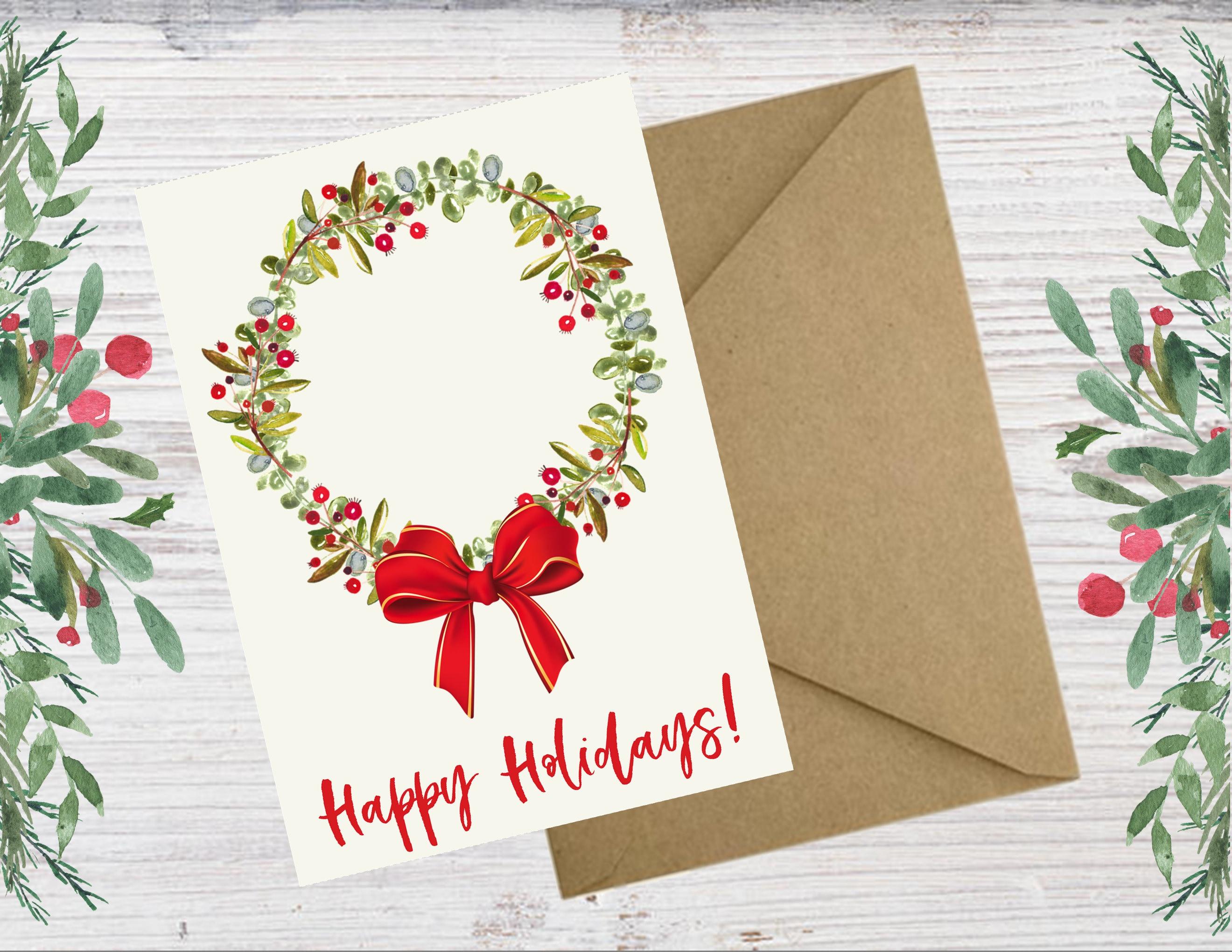 Diy Christmas Card Christmas Card Printable Instant Christmas Card