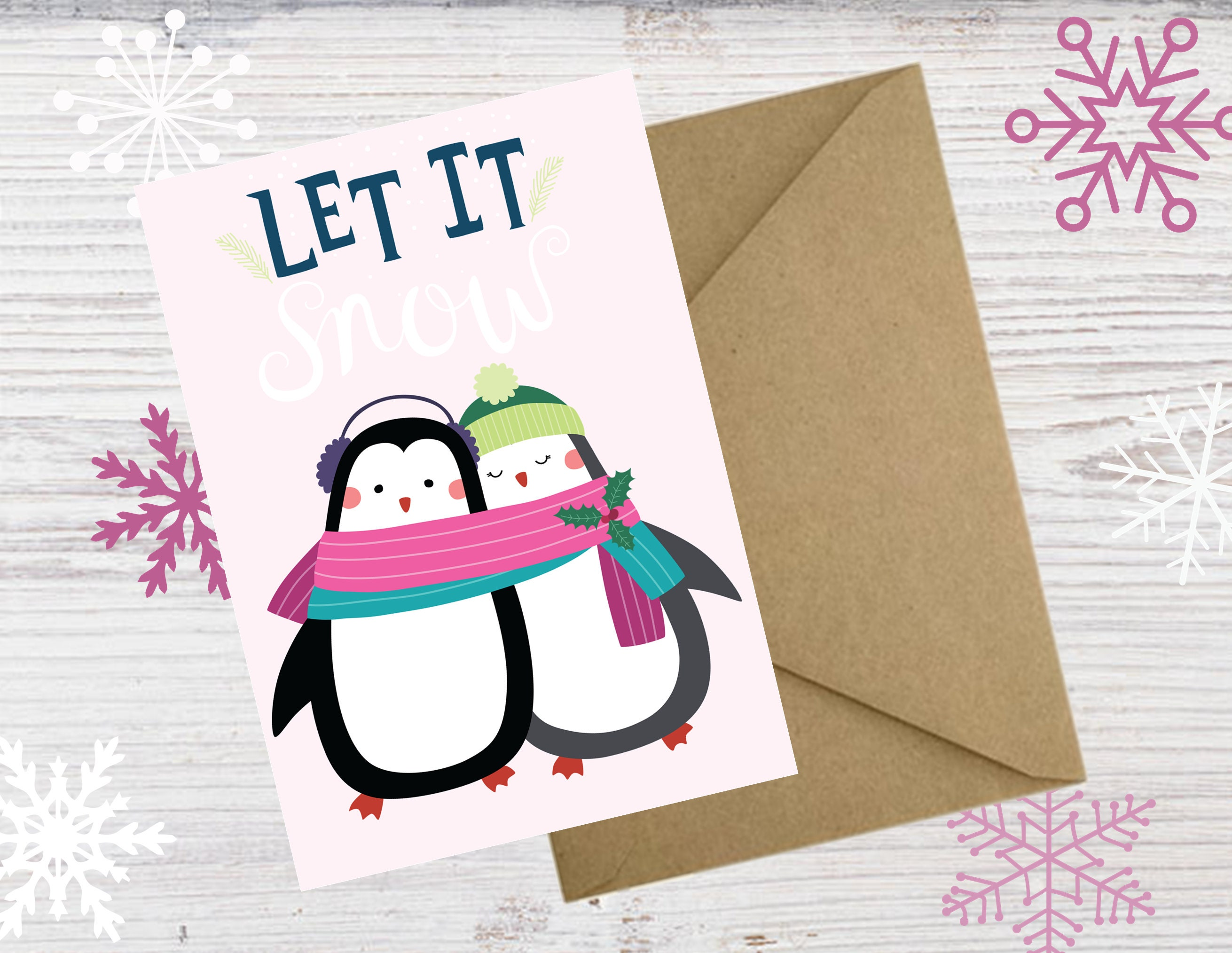 Printable Penguin Christmas Cards Diy Christmas Cards Print At