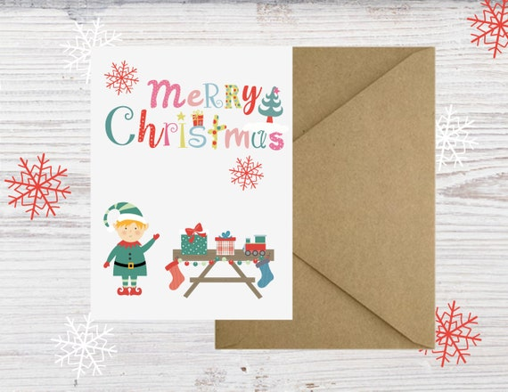 Diy Holiday Card Printable Holiday Card Happy Holidays Card