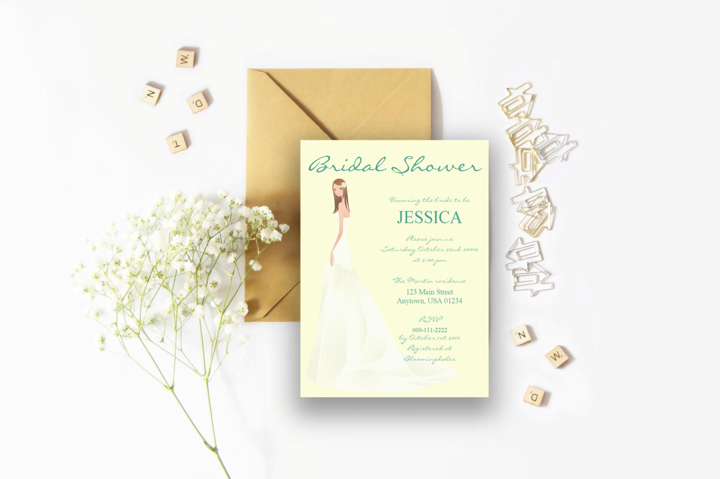 Set of 8 spring bridal shower invitations filmwisefo