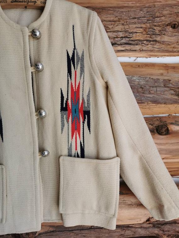 1950s Chimayo Women's Southwest Blanket Jacket - … - image 2