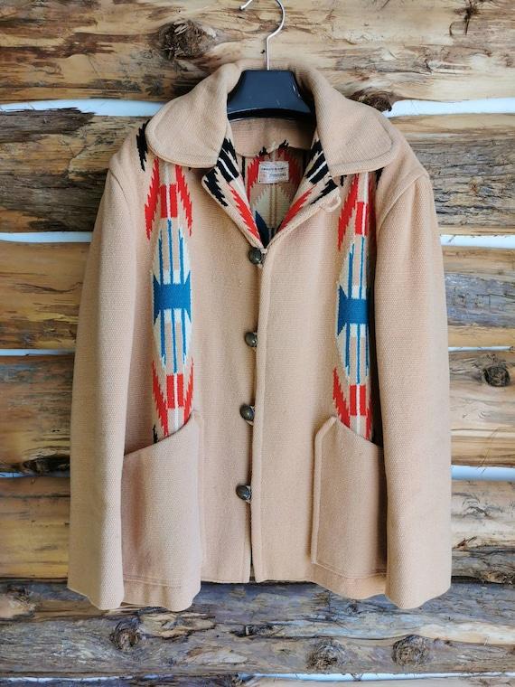 1950s Chimayo Southwest Blanket Jacket - Authentic