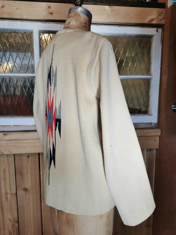 1950s Chimayo Women's Southwest Blanket Jacket - … - image 6