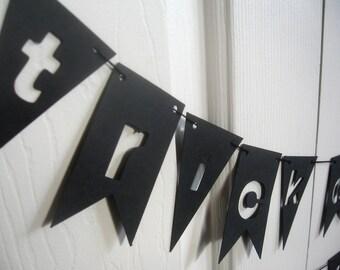 TRICK or treat Halloween Stencil Paper Banner Bunting Garland