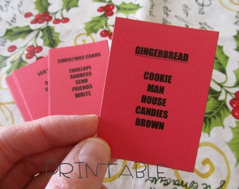Printable- PDF- Christmas Taboo- Fun Party Game for kids, teens, and adults- family friendly