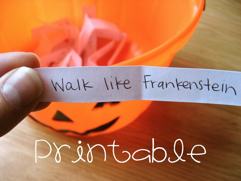 photo regarding Halloween Charades Printable named Printable- PDF- Halloween Charades- Get together Recreation Thought