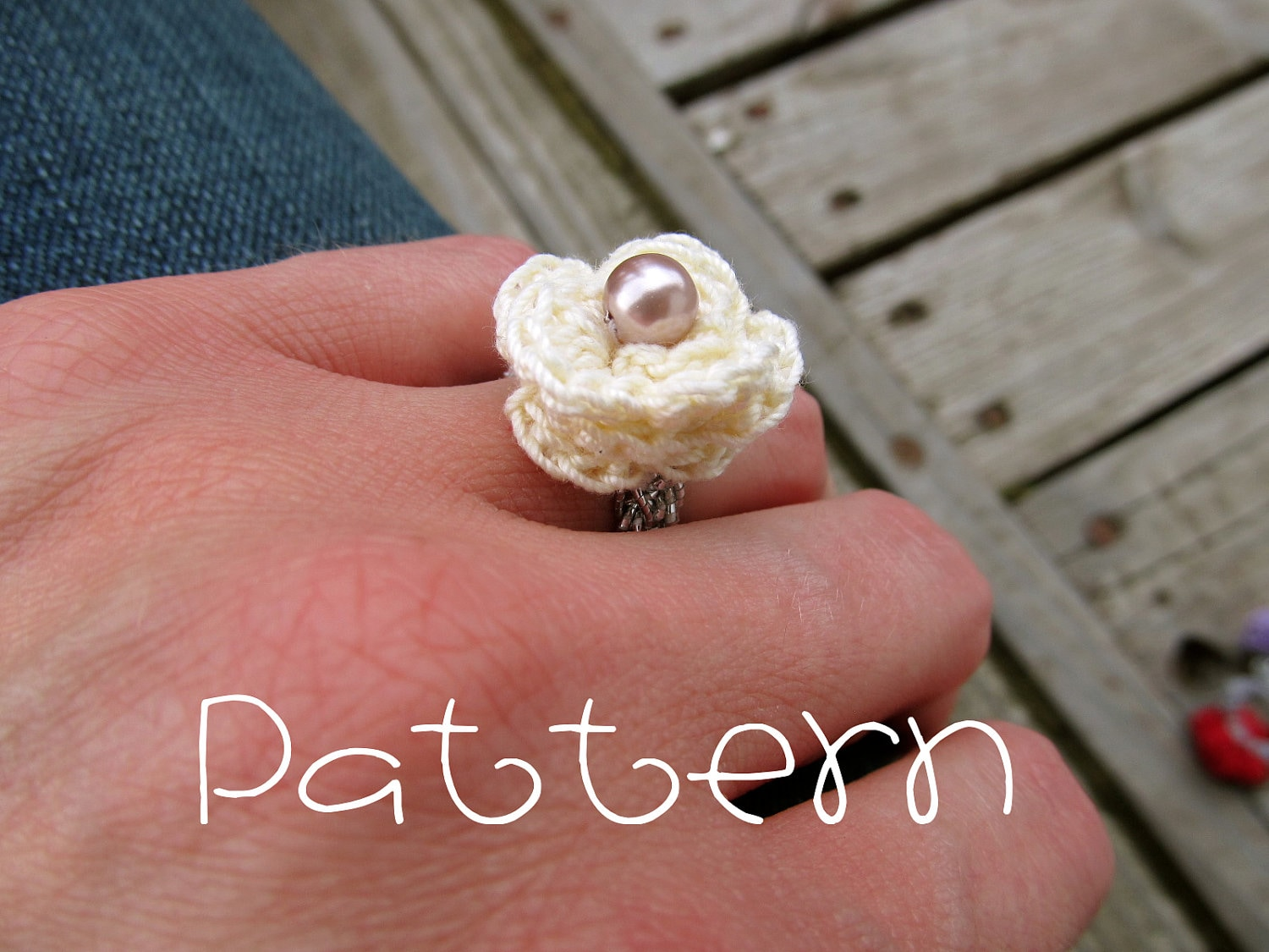 PATTERN PDF Lovely Rosette Ring Crochet | Etsy