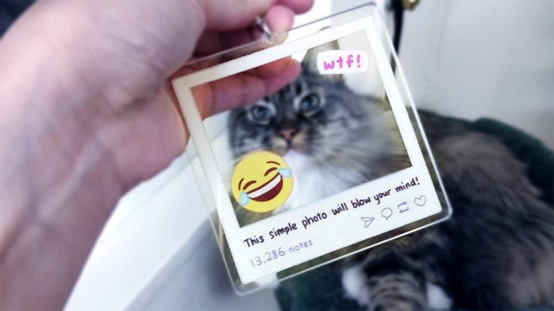 Clickbait acrylic photo frame charm | 3 4