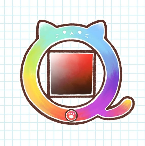 Color Wheel Cat 3 Sticker Kawaii Sticker Cute Sticker Etsy
