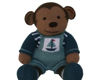 Sailboat Dungarees Outfit - Knit a Teddy