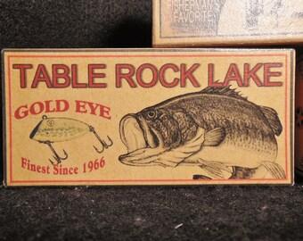 Table Rock Lake lake house fishing cabin decor nostalgic fishing lure boxes