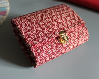 """5.5 """" red white cards and coins wallet"""