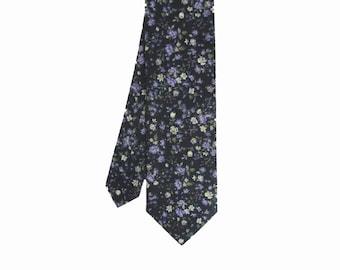 Pip 04 - Purple Floral Men's Tie