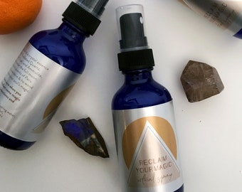 RECLAIM YOUR MAGIC Ritual Spray with Crystal Essences / Aligns you to your power & magic