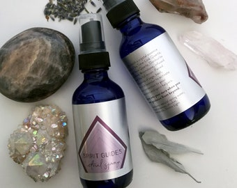 SPIRIT GUIDES Ritual Spray with Crystal Essences / opens your Crown Chakra