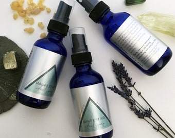 MANIFESTING Ritual Spray with Crystal Essences / Amplify your intention setting & creations