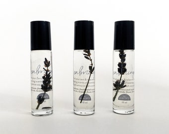 CALMING Botanical Roller Oil with Lavender Flowers