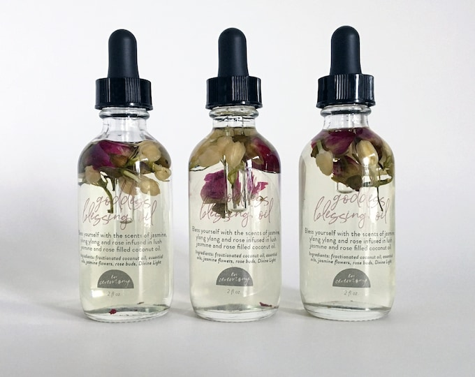 Featured listing image: GODDESS Blessing Oil with Rose Buds and Jasmine Flowers