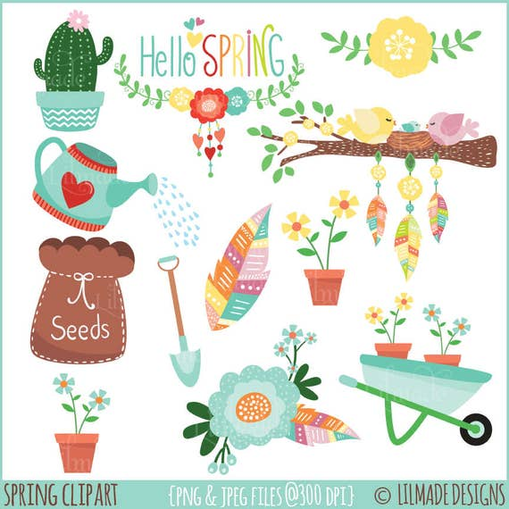 Spring Clipart Clipart Spring Illustrations Commercial Use