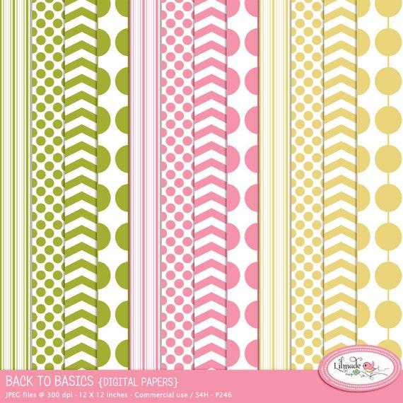picture regarding Printable Paper Bead Templates named Chevron electronic paper, polka dot behaviors, vertical line