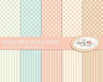 50%OFF Digital paper, vintage digital paper, vintage dress digital papers, shabby digital papers, shabby scrapbook paper, P214