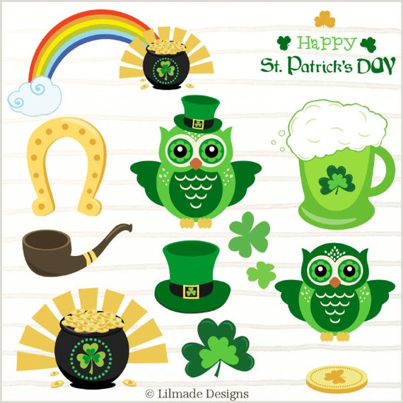 graphic regarding Free Printable Clipart for St Patrick's Day titled St. Patricks Working day clipart,horseshoe, shamrock, rainbow clipart, leprechaun, St. Patrick clover,fortunate Irish clipart, St Patricks working day