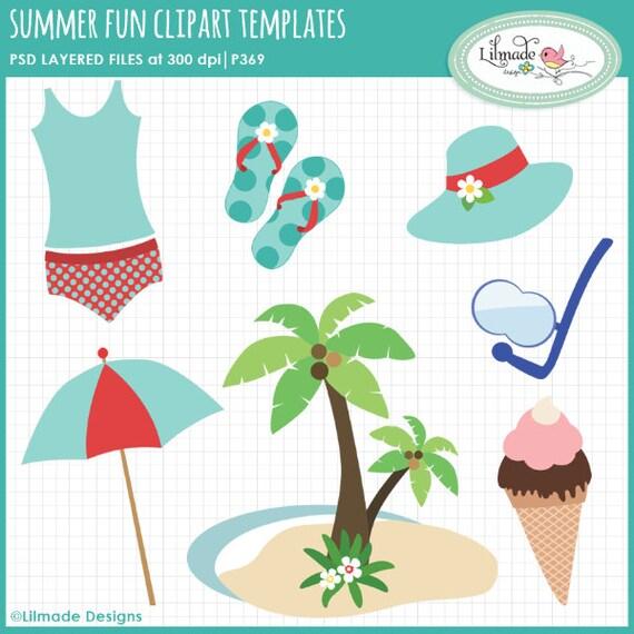Sommer Spaß Sommer Clipart Strand Clipart Urlaub Clipart | Etsy