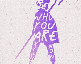 Bo Peep Be Who You Are Right Now SVG & PNG | File for Cricut and Silhouette