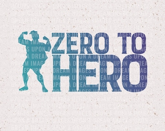 Zero to Hero, Hercules Inspired SVG & PNG | File for Cricut and Silhouette