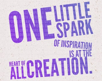 One Little Spark Downloadable SVG & PNG | File for Cricut and Silhouette