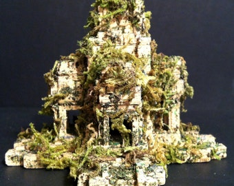 3D Printed Ruined Temple, Ancient Ruin,Terrarium Miniature,Medieval Tabletop Piece,Fantasy Miniature,Dungeons And Dragons Miniatures