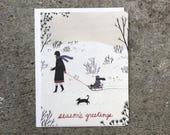 Season's Greetings blank card