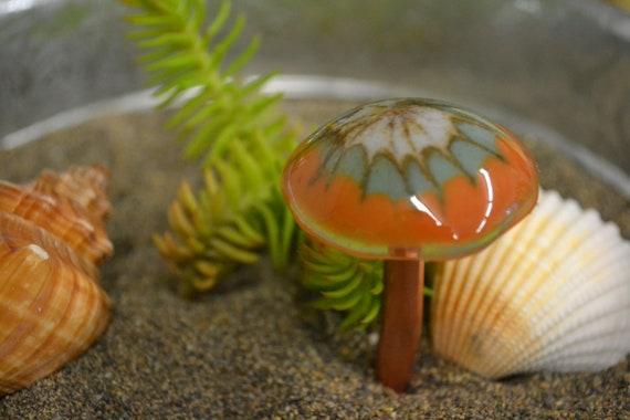 Gnome Garden: Miniature Mushroom Dish Garden Decor Fairy Garden Gnome
