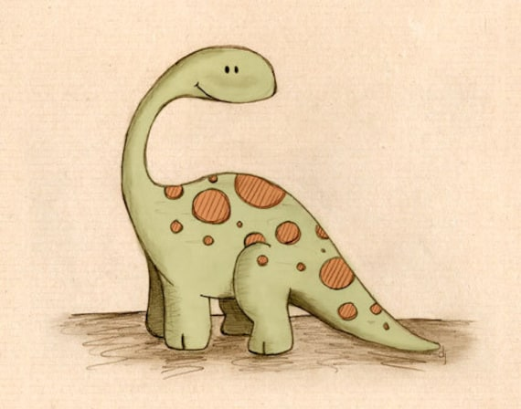 Long Neck Dinosaur 8x10