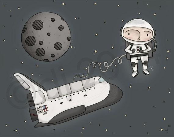 Astronaut Print  **FREE SHIPPING**