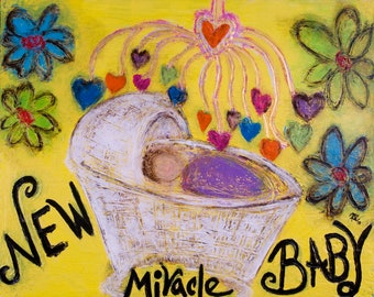 Fine Art Metal Print Miracle Baby by Rochelle Carr