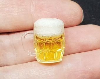 Playscale Miniature Beer with Foam in Mug, 1:6 Scale Ball Jointed Doll, Beer stein, Mug of beer