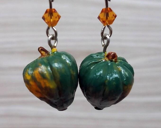 Featured listing image: Acorn Squash Charm Earrings