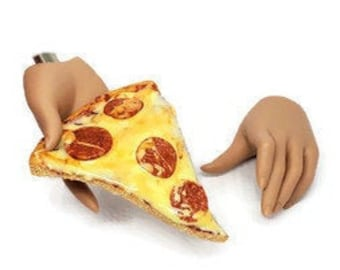 MSD Miniature Pizza, Ball Jointed Doll, Minifee Accessory, Pizza Slice, Junk Food Toy