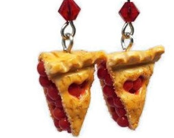 Miniature Cherry Pie Charm Earrings