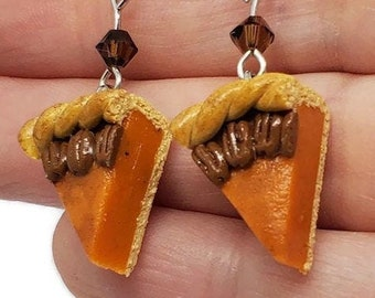 Pumpkin Pecan Pie Surgical Steel Earrings