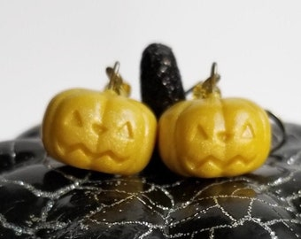 Pastel Yellow Pumpkin Earrings