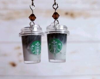 Miniature Espresso Macchiatto Earrings Gift for Barista