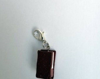 Miniature Neapolitan Ice Cream Bar Zipper Charm