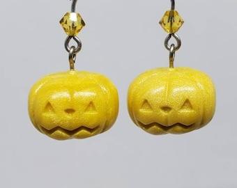 Pastel Yellow Pumpkin Earrings
