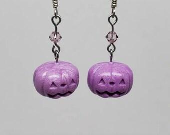 Pastel Purple Pumpkin Earrings