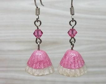 Fairy Kei Pink Japanese Chocolate Earrings