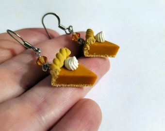 Pumpkin Pie Surgical Steel Earrings