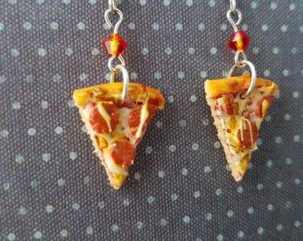 Pepperoni Pizza Earrings - Food Earrings