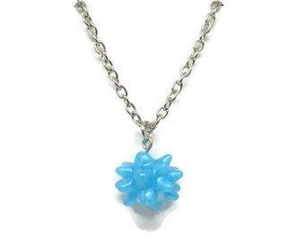 Galaxy blue star candy necklace